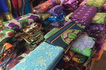 tissus africains pour vêtement wax